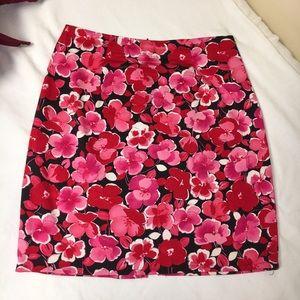 Allison Taylor Petite floral tear zip skirt